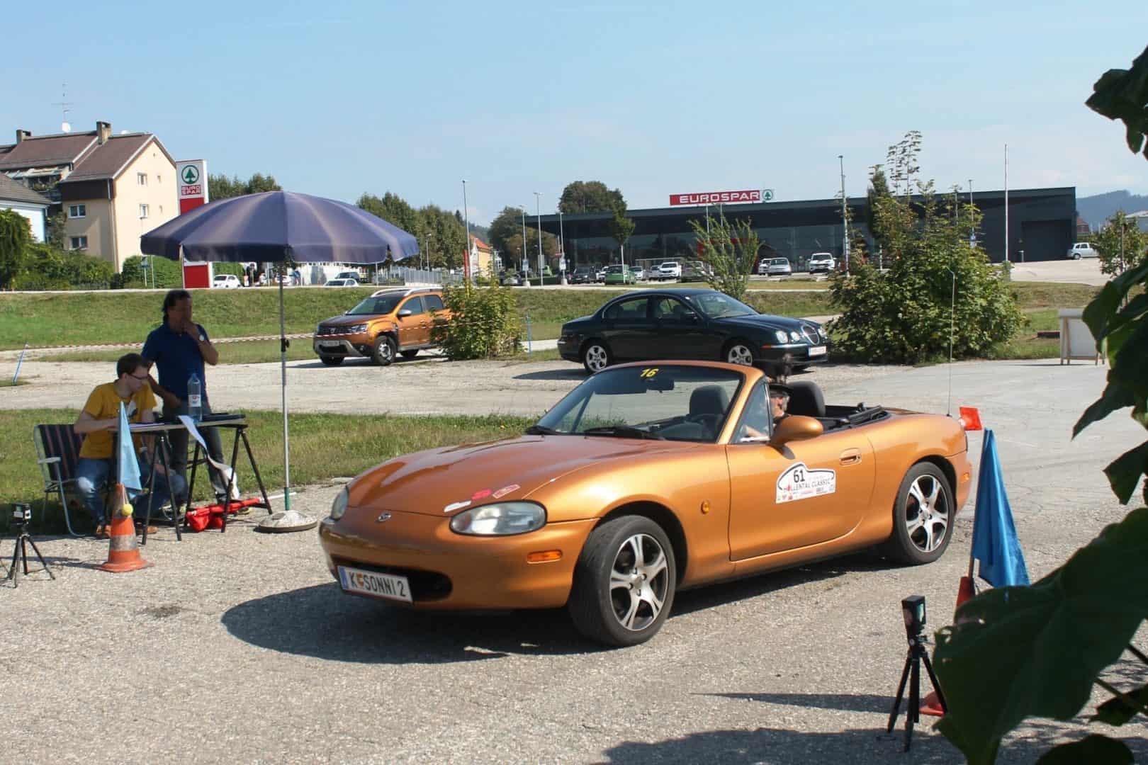 Ausflug des CAR Teams Ferlach am 12. September 2020 mit Gleichmäßigkeitsprüfung anstelle des abgesagten sms-Classic-Sprints - Sonnleitner Mazda MX5