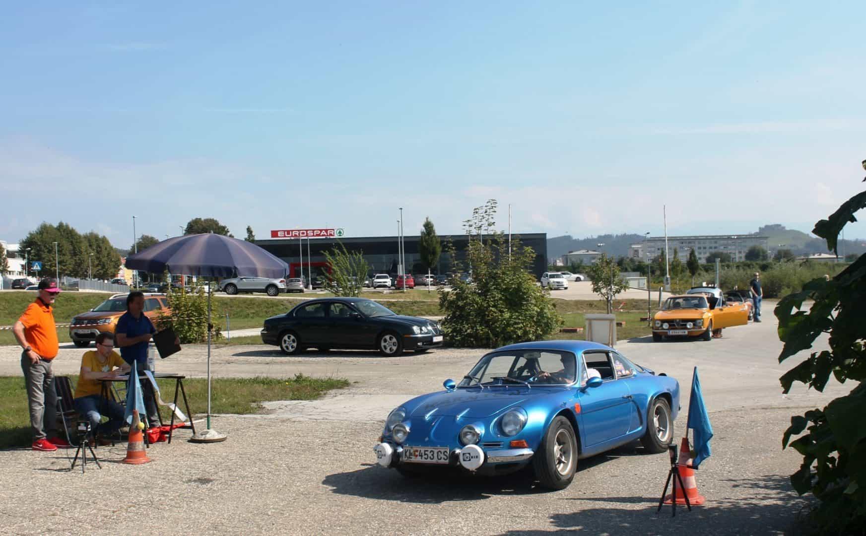 Ausflug des CAR Teams Ferlach am 12. September 2020 mit Gleichmäßigkeitsprüfung anstelle des abgesagten sms-Classic-Sprints - Harald Pirtscher, Renault Alpine